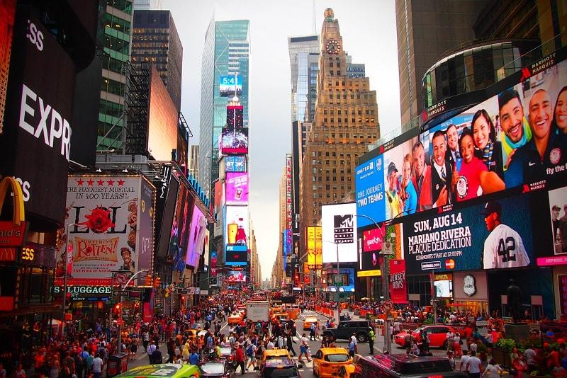 Times Square - Bucket list ideas