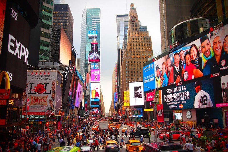 Times Square - Bucket list ideas