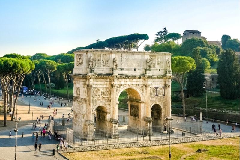 Konstantinsbogen - Sehenswürdigkeiten in Rom