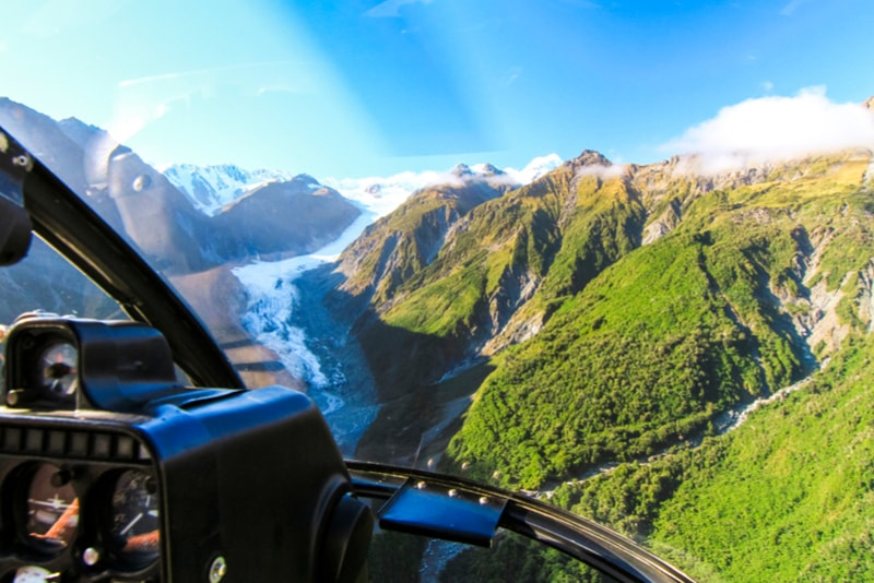 Helicopter tour - what to do in New Zealand