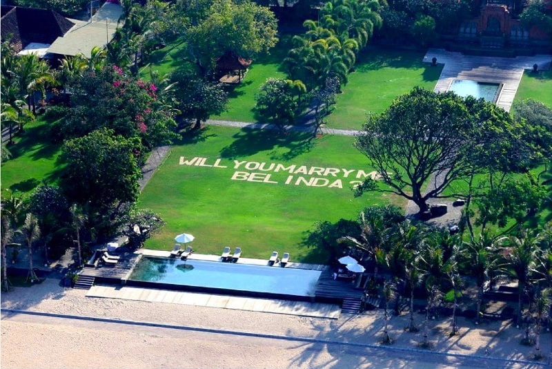 Helicopter Marriage Proposal - Fun things to do in Bali