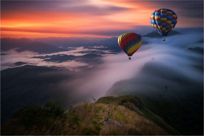 Hot air balloon flight - Fun things to do in New Zealand