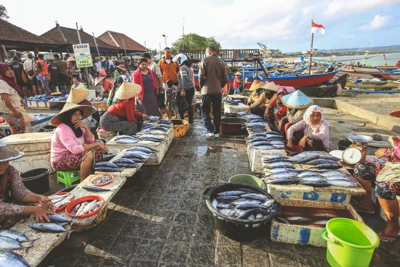 Mercado de peixe de Jimbaran - coisas para fazer em bali