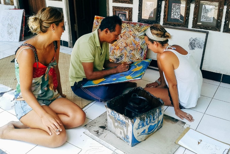 aulas de Batik - coisas para fazer em bali