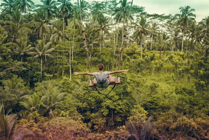 Rope Swing - Fun things to do in Bali
