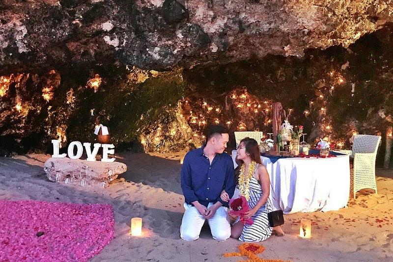 jantar na Samabe Cave - coisas para fazer em bali