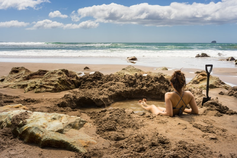 Spa pool at hot water beach - Fun things to do in New Zealand
