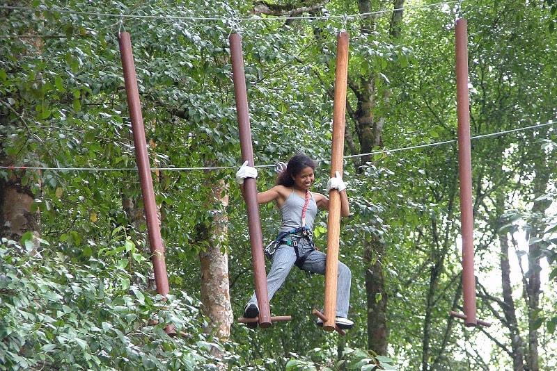 Treetop Adventure Park - coisas para fazer em bali