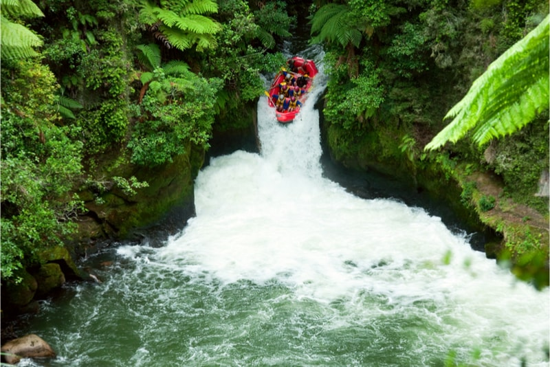 White-water rafting - Fun things to do in New Zealand