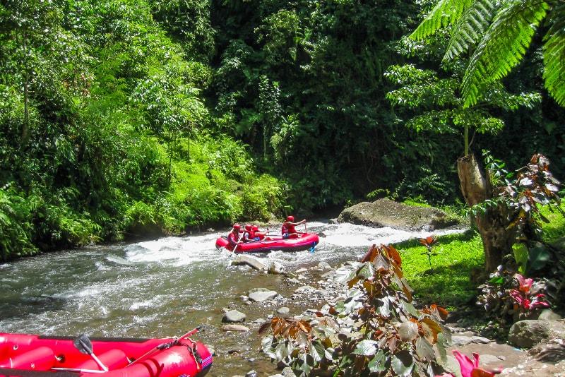 Rafting Ayung - coisas para fazer em bali