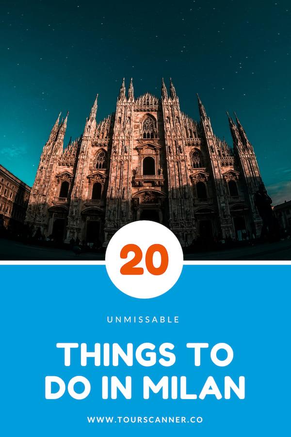 Things To Do Milan Pinterest