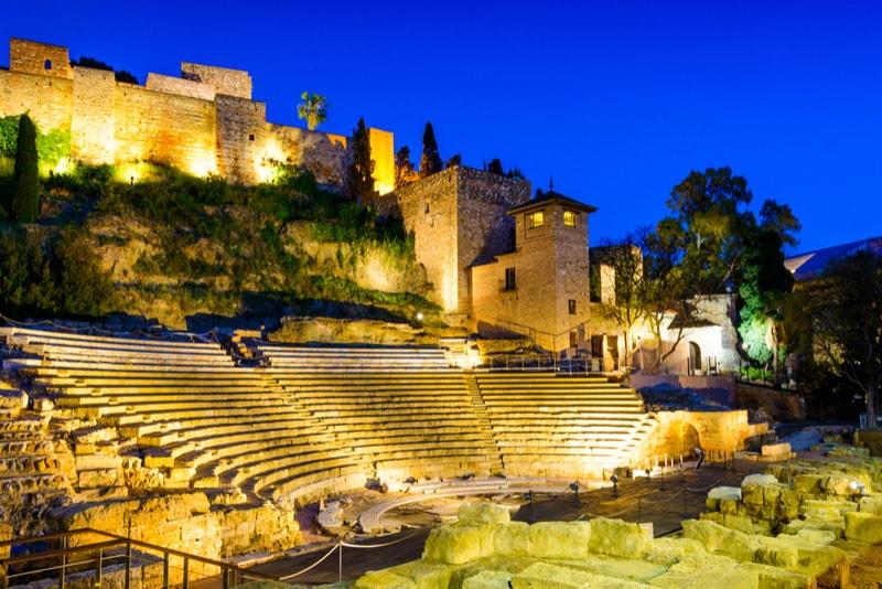 Ruinen des römischen Theaters - Sehenswürdigkeiten in Malaga