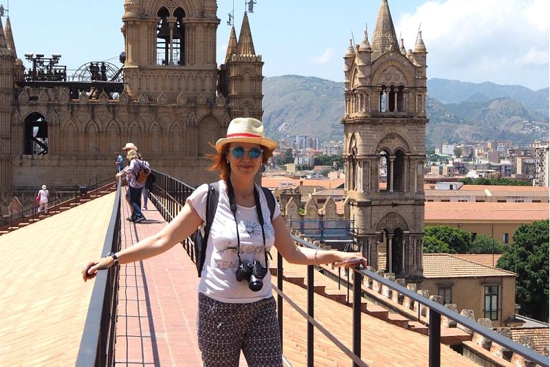 Sur les toits de la cathédrale de Palerme, Sicile - A Taste of My Life