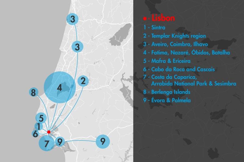 9 excursions d'une journée au départ de Lisbonne