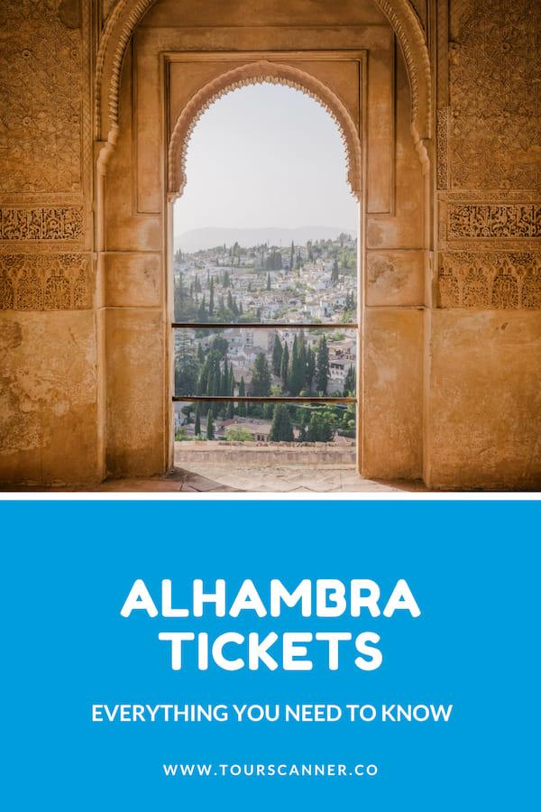 Alhambra Tickets Pinterest