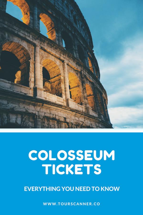 Colosseum Tickets Pinterest