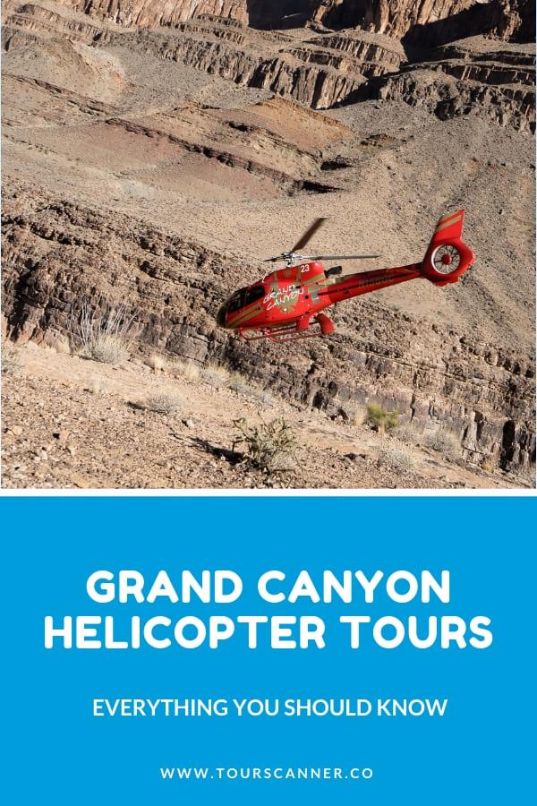 Excursión en helicóptero al Gran Cañón Pinterest