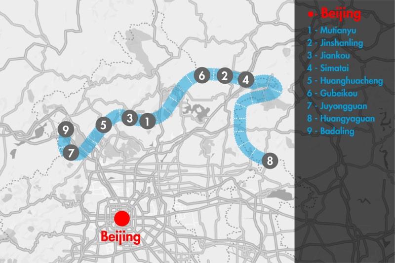 Visitar a Muralha da China - mapa