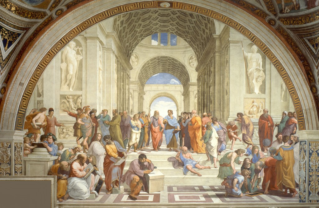 Raffaels Schule von Athen - Vatikanmuseum