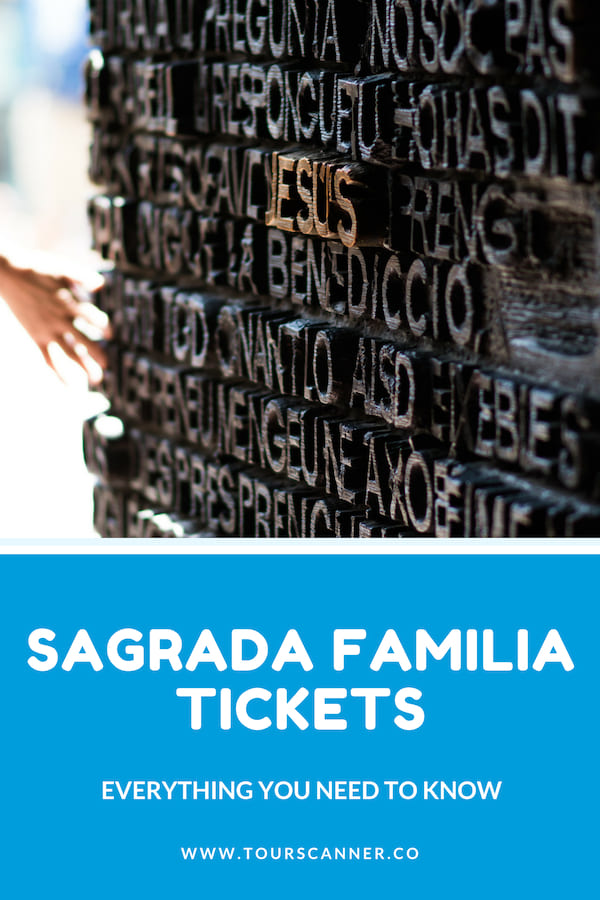 Sagrada Familia Tickets Pinterest