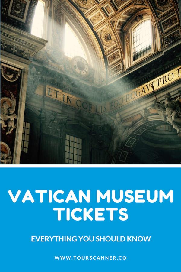 Billets pour les Musées du Vatican - Pinterest