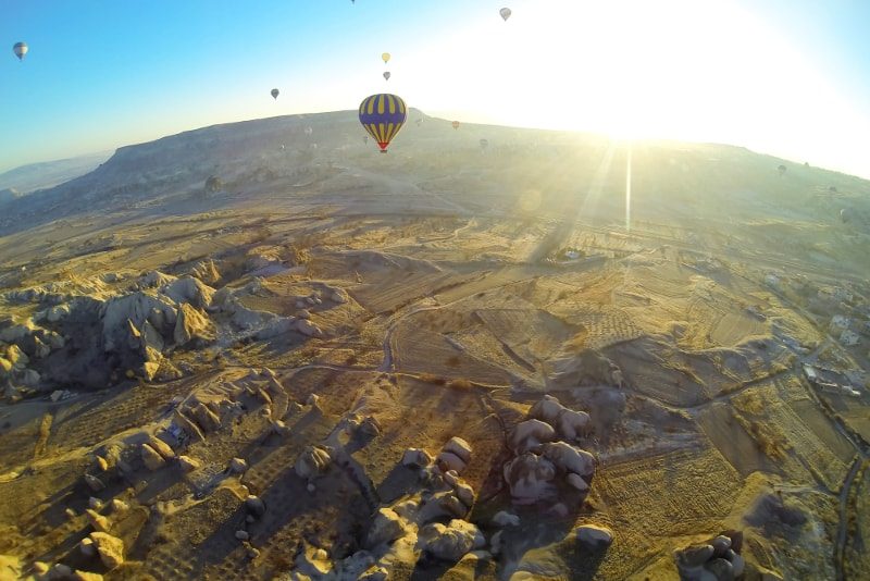 Cappadocia hot air balloon sunrise