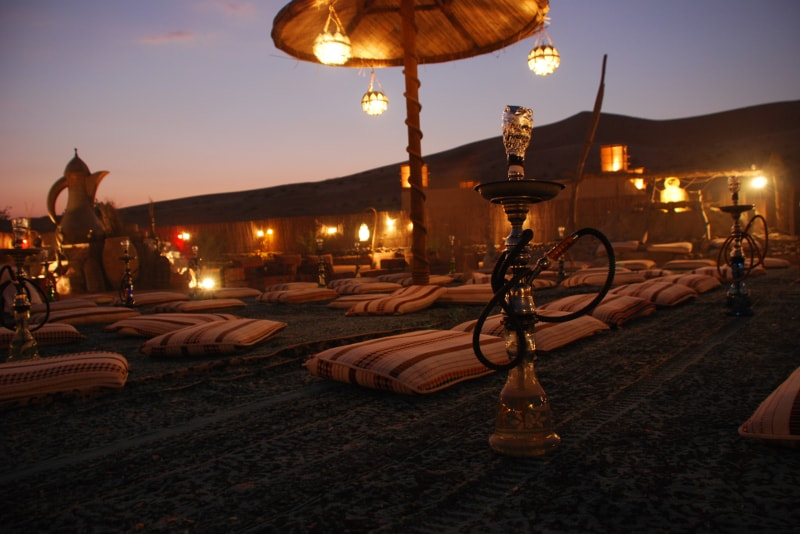 Campamento en el desierto de dubai