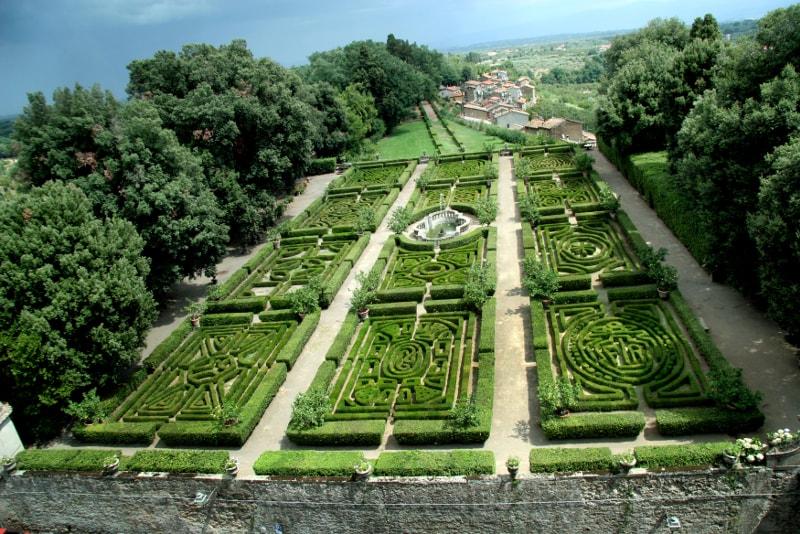 I giardini del castello di Ruspoli