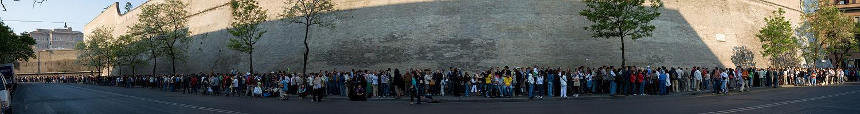 Cola en la entrada del Vaticano
