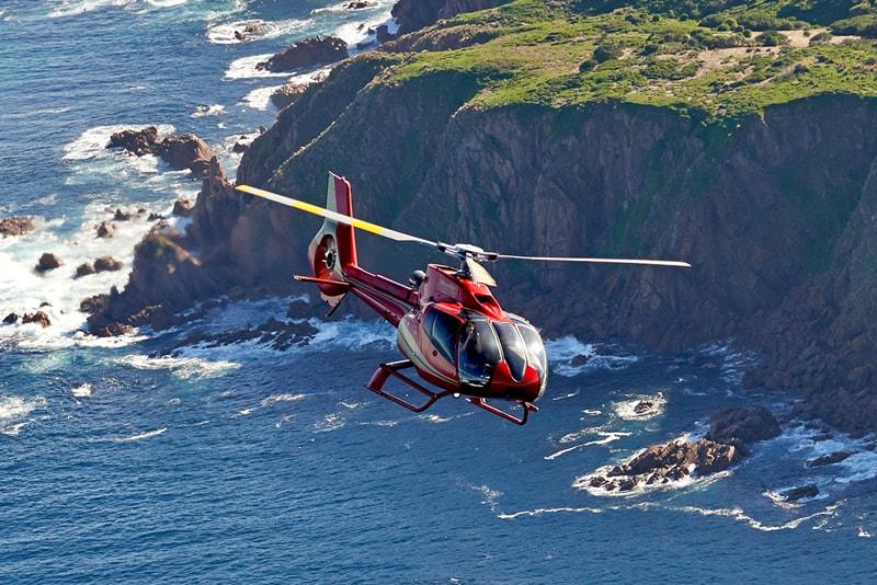 Visita de la Isla Phillipen helicóptero