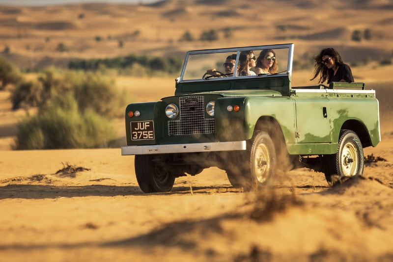 Safari de Landrover Vintage en el desierto de Dubai