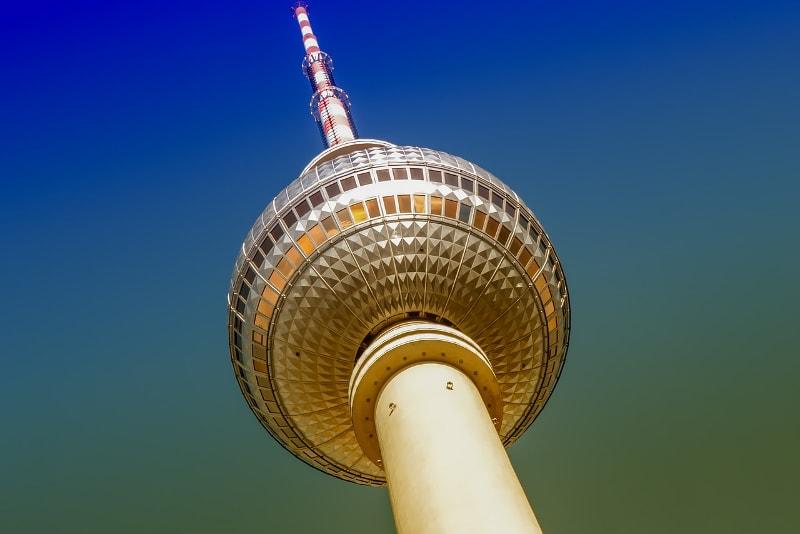 Cima della torre della televisione di Berlino