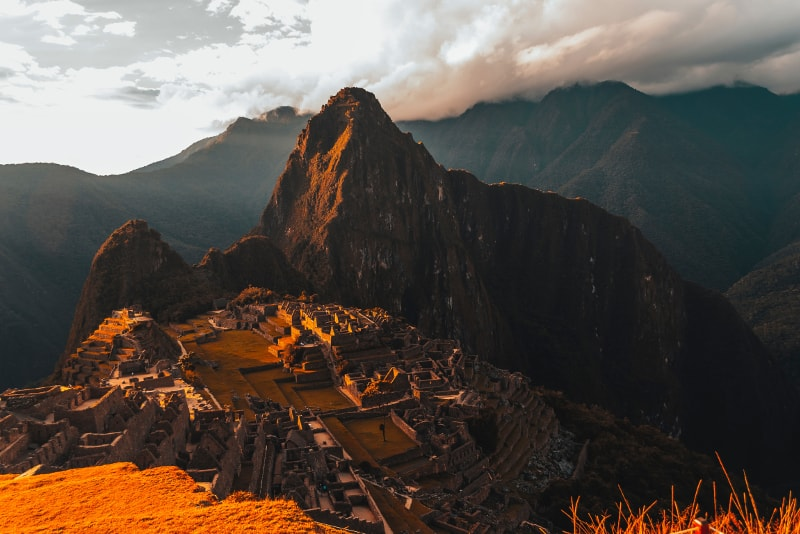 Por do sol de Machu Picchu