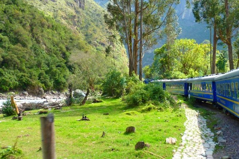Comboio para Machu Picchu
