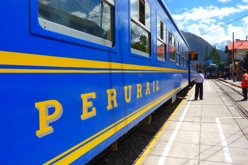 Estação de trem para Machu Picchu