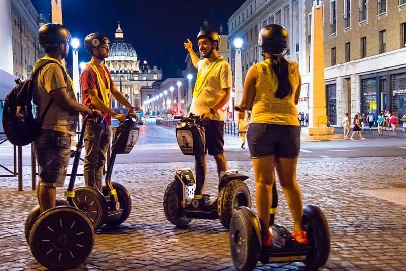 Visite con segway a Roma - visite notturne di Roma