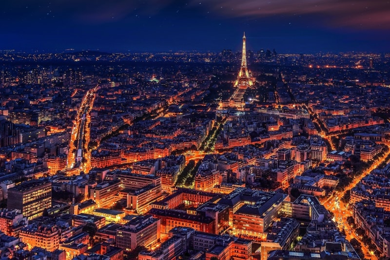 Paris à noite - Bilhetes Torre Eiffel