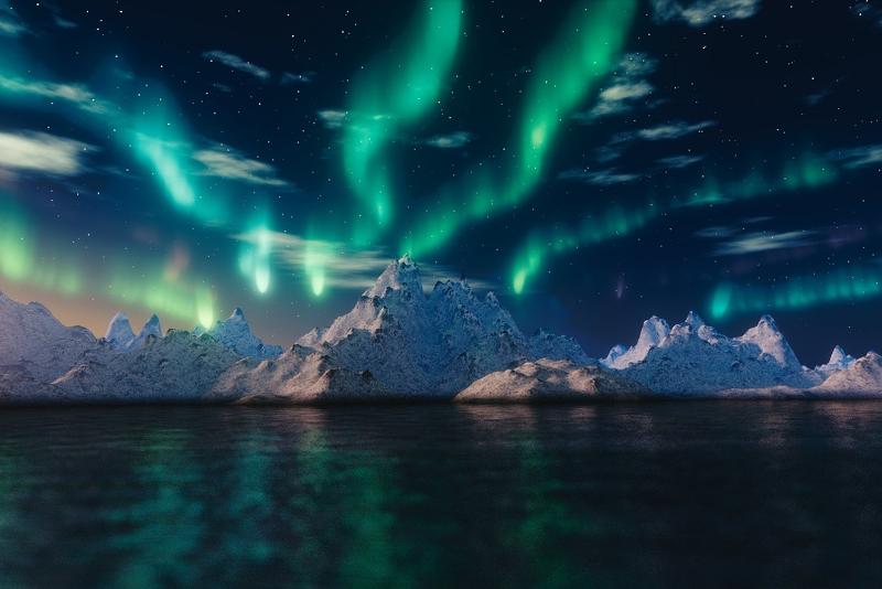 Auroras Boreais Mar - Excursões na Islândia