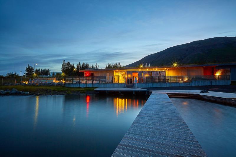 bains géothermiques Fontana - Excursions Pour Voir les Aurores Boréales en Islande