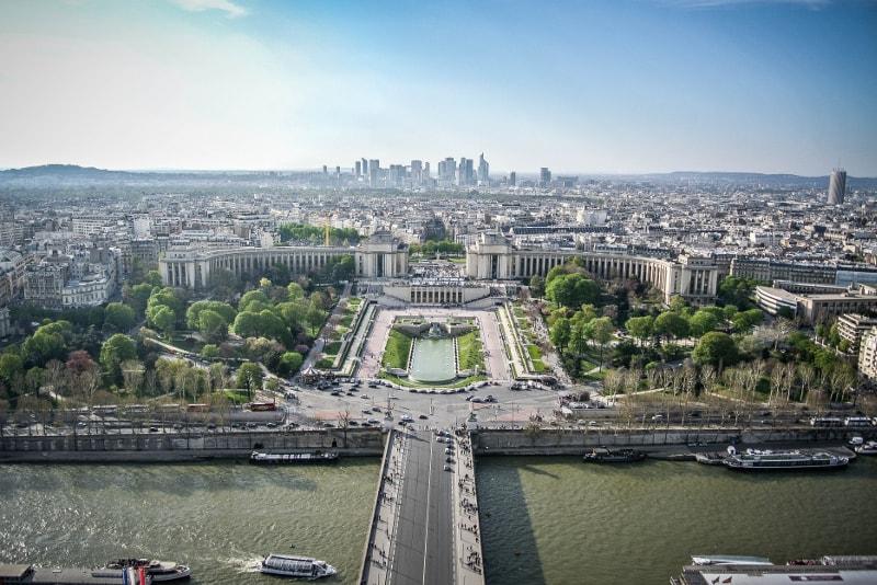 Blick vom Eiffelturm - Eiffelturm Last Minute Tickets