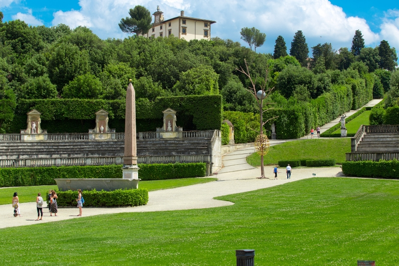 Palazzo Pitti et les jardins de Boboli