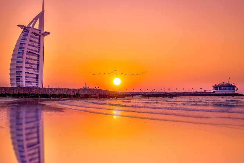 Burj al Arab - scalo aeroporto Dubai