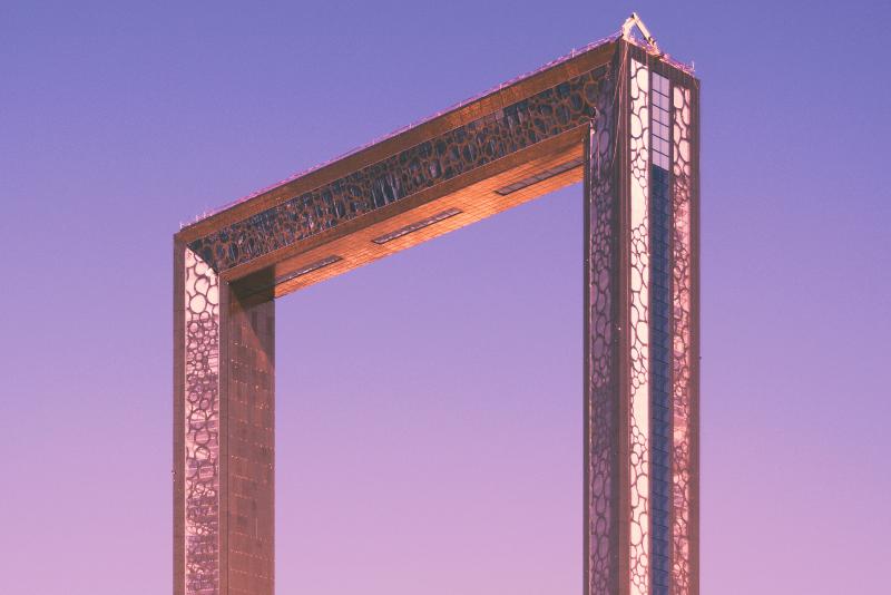 Dubai Frame - Coisas para fazer escala Dubai