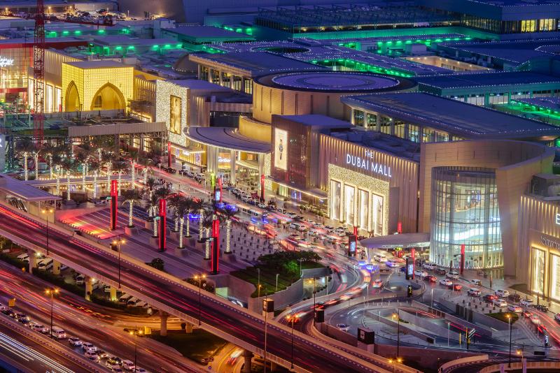 Dubai Mall - scalo aeroporto di Dubai