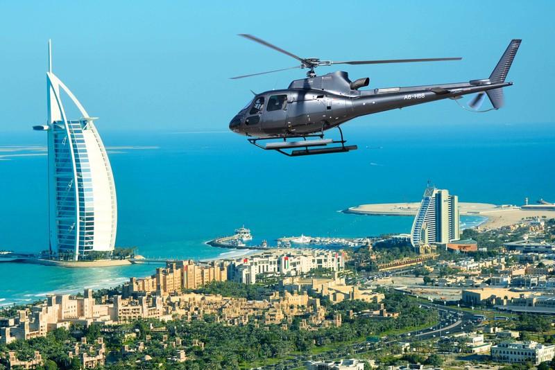 Vôos de helicóptero - Coisas para fazer escala Dubai