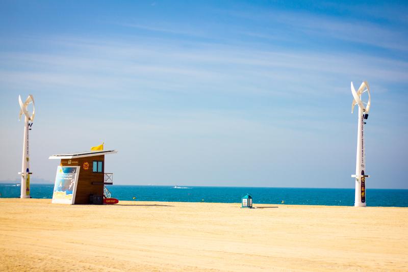 Praia JBR - Coisas para fazer escala Dubai