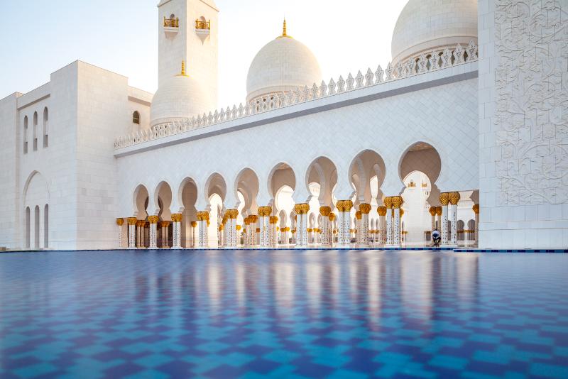 Grande Moschea di Sheikh Zayed - scalo aeroporto di Dubai