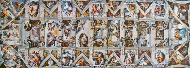 Sistine Chapel frescoes - ceiling