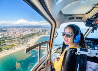 Helicopter tours in Barcelona