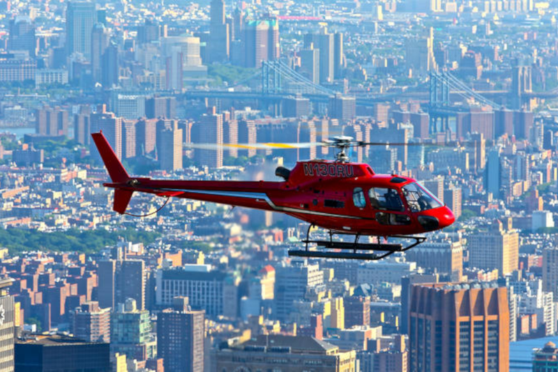 helicopter tour over Brooklyn in New York City